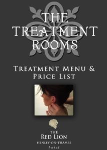 Massage Menu for The Treatment Rooms